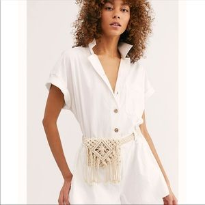 Free people macrame belt bag pouch purse new 🌟🌟